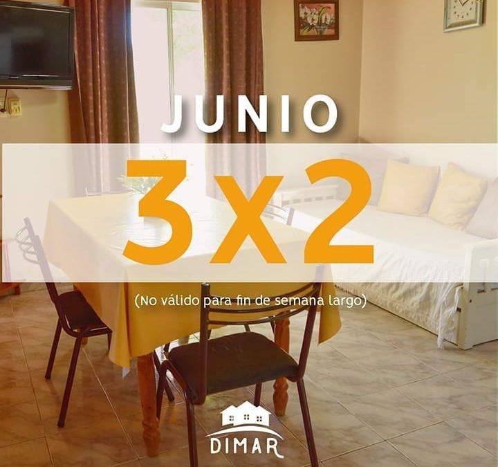3×2 en junio 2019 – «Alojamientos Dimar»