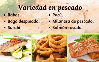 Variedad en pescados – Restaurante El Paso