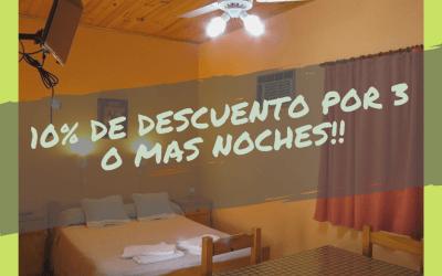 10% de descuento – «Alojamientos Graciela»