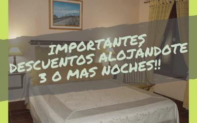 Descuentos por 3 o mas noches – «Bungalows La Day»