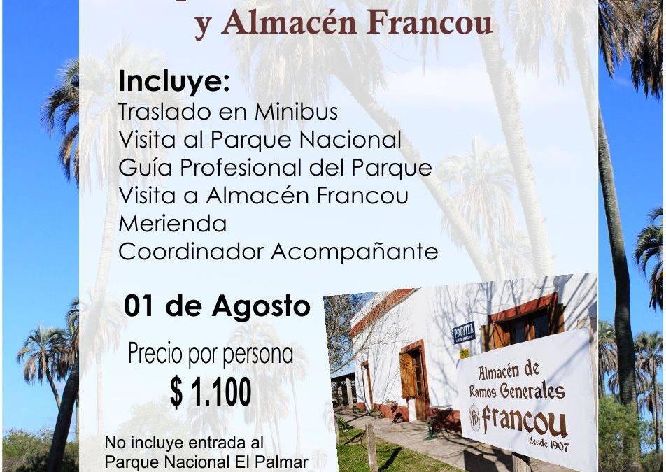 Excursión: Parque Nacional El Palmar y Almacén Francou
