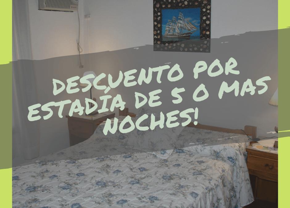 Descuentos por 5 o mas noches en «Alojamiento Malena»