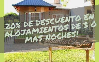 20% de descuento por 3 o mas noches «Abuela Chefa»