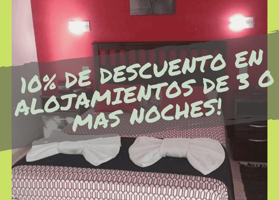 10% off por 3 o + noches «Departamento Alto Rojo»