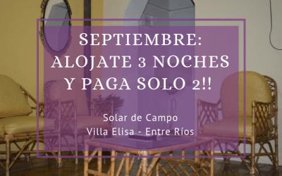 3×2 en Alojamiento Rural «Solar de Campo»
