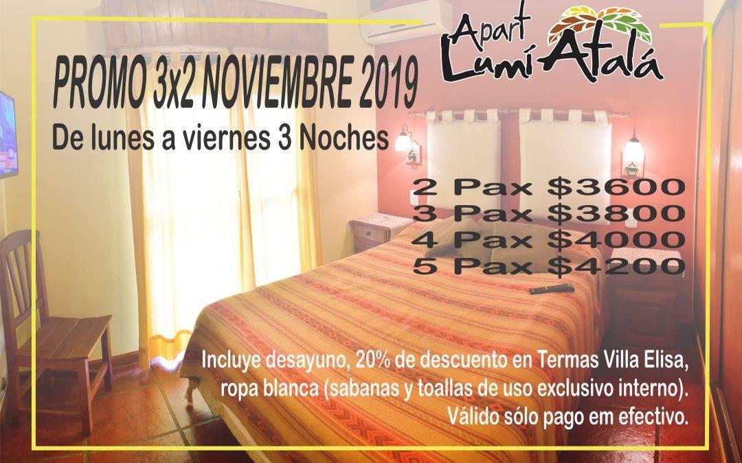 3×2 en noviembre «Apart Lumiatalá»