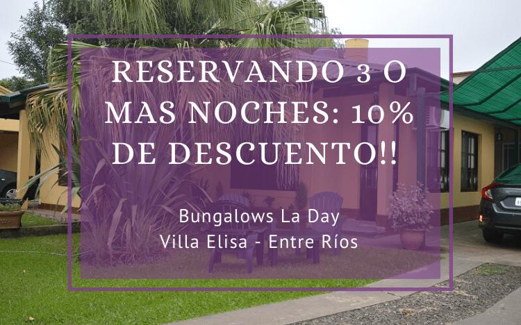 10% de descuento – Bungalows La Day