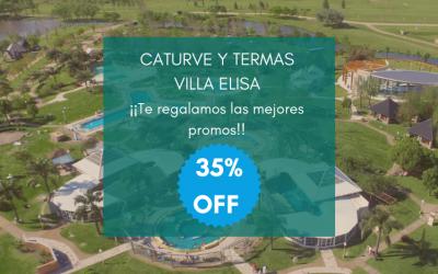 Alojándote con nosotros y tenés hasta 35% de descuento en la entrada a Termas Villa Elisa